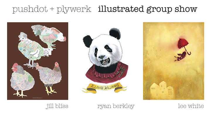 Pushdot + Plywerk: Illustrated Group Show